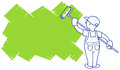 Painter vector illustration the house paints area for a placeholder Stock Photography