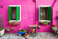 Painterly house in Burano Royalty Free Stock Photography