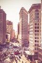 Painterly NYC street scene and Flatiron Royalty Free Stock Photo