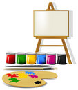 Painting accessories Stock Photo