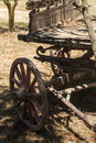 Painting Antique Wooden Cart W...