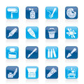 Painting and art object icons vector icon set Royalty Free Stock Photography