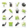 Painting and art object icons vector icon set Stock Photography