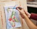 Painting at Art School