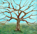 Painting of a bare-leafed tree
