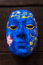 Painting blue mask Stock Image
