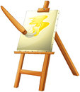 A painting board illustration of on white background Stock Photography