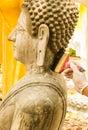 Painting buddha image by brush Stock Image