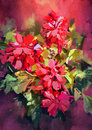 Painting of colorful abstract flowers Royalty Free Stock Photo