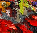 Painting details colorful oil texture closeup macro Royalty Free Stock Images
