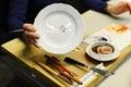 Painting german porcelain Royalty Free Stock Photo