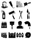 Painting icons set Royalty Free Stock Photo