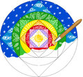 Painting a mandala Royalty Free Stock Images