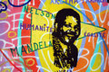 Painting with mandela and martin luther king berlin germany august details of on the berlin wall the name of the picture of Stock Image