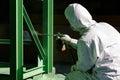 Painting process by spray gun Royalty Free Stock Photo