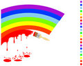 Painting rainbow colors. Royalty Free Stock Photos