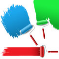Painting roller set for text background Royalty Free Stock Images