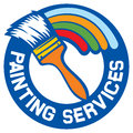 Painting services label symbol Royalty Free Stock Image