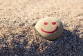 A painting smile on the stone Royalty Free Stock Photos