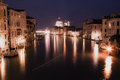 Painting style image of Grand canal after sunset Royalty Free Stock Photo