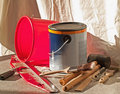 Painting supplies Stock Photography