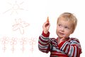 Painting toddler Stock Photography