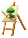A painting of a tree illustration on white background Royalty Free Stock Photos