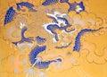 Painting at the Wangduechhoeling Palace ruins, Bumthang, Bhutan