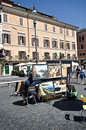 Paintings in Piazza Navona Stock Photo