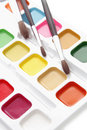 Paints and brushes Royalty Free Stock Images