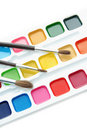 Paints and brushes Royalty Free Stock Photos