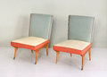 Pair of Antique Vintage Padded Chairs Royalty Free Stock Photo