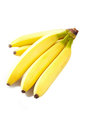 Pair bananas white background Stock Photography