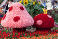 A pair of beautiful mushroom are made by flowers date mar location wai chai hong kong Stock Photo