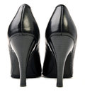 Pair black high heels Stock Photo