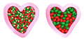 A pair of candy and love symbol Royalty Free Stock Images