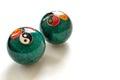 a pair of Chinese anti-stress balls Royalty Free Stock Photo