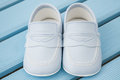 Pair of Classic Blue Baby Shoes
