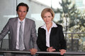 Pair of confident executives Royalty Free Stock Photography