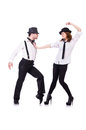 Pair of dancers dancing modern dances Royalty Free Stock Photo