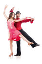 Pair of dancers isolated Royalty Free Stock Photo