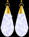 A Pair of Diamond Earrings Royalty Free Stock Photo
