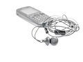 A pair of earphone mobile phone with Royalty Free Stock Image