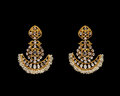 Pair of Earrings with diamonds Royalty Free Stock Photo
