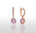 Pair of earrings. Royalty Free Stock Photo