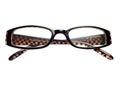 Pair eye glasses, reading glasses, eyeglass frames, 2.0 isolated Royalty Free Stock Photo