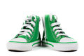 Pair of fashionable sneakers isolated Royalty Free Stock Photo