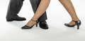 Pair feet show tango position Royalty Free Stock Photos