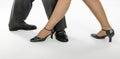 Pair feet show tango step