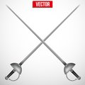 Pair of Fencing Rapiers. Royalty Free Stock Photo